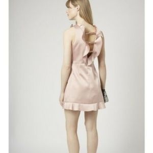 TopShop champagne cocktail dress BNWT sz 6 ruffle